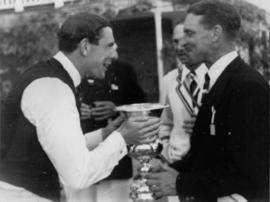Tony Rowe and Hank Rushmere enjoying the fruits of victory
