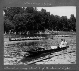 Marlow 1924 - Thames winning heat 2 of junior eights