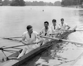 Festival Regatta of the Serpentine, senior fours won by Thames RC