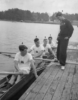 Great Britain four and the cox of the Soviet coxed pair