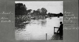 Henley 1922 - Final Silver Goblets, Lucas and Nickalls (Magdalen) beating Logan and Fairbairn (Thames)