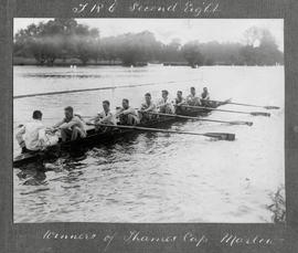 Marlow 1925 - TRC second eight, winner of Thames Cup