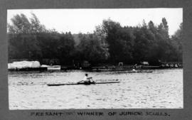 Marlow 1927 - Presant (TRC) winning junior sculls