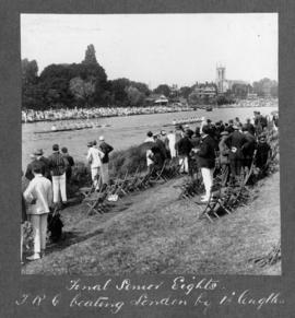Molesey 1925 - Final senior eights, TRC beating London