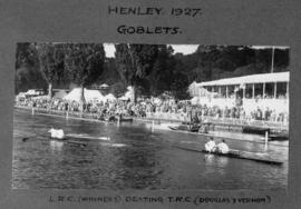 Henley 1927 - Goblets, LRC (winners) beating TRC (Douglas and Vernon)