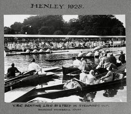 Henley 1928 - TRC beating LRC by 2 ft in final of Stewards' - Badcock's wonderful spurt
