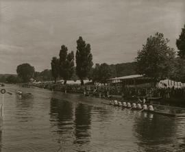 Henley 1948 - Final of the Grand, passing Stewards' Enclosure