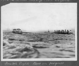 TRC Regatta 1922 - scratch eights race in progress