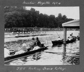 Marlow 1924 - Thames beating Jesus College