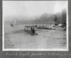 TRC Regatta 1922 - scratch eights paddling to starting point