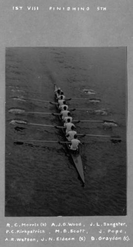 1st VIII finishing fifth