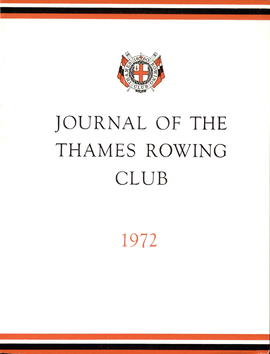 Journal of the Thames Rowing Club 1972