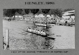 Henley 1930 Thames Cup TRC beating 1st Trinity