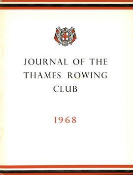 Journal of the Thames Rowing Club 1968