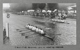 Henley 1928 - TRC 1st eight beating LRC in heat of Grand