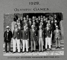 1928 Olympics: oarsmen, coaches, manager, boatmen etc