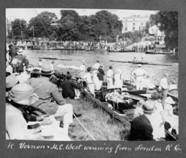 Kingston 1924 - K Vernon and H E West winning from London